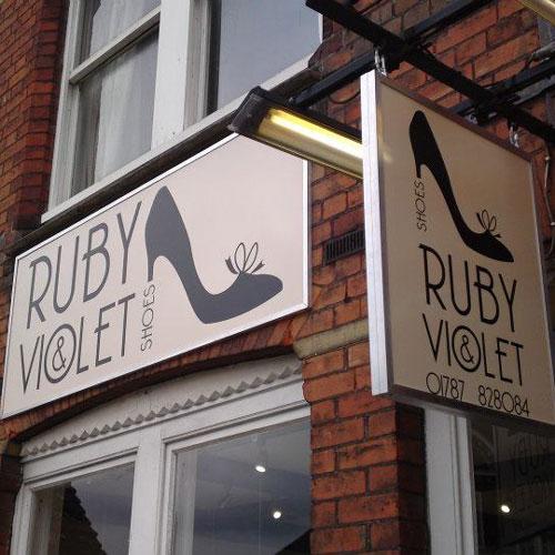 Ruby & Violet Shoes Signage
